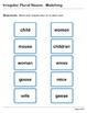 Abby Explorer Grammar - Second Level: Irregular Plural Nouns - Matching