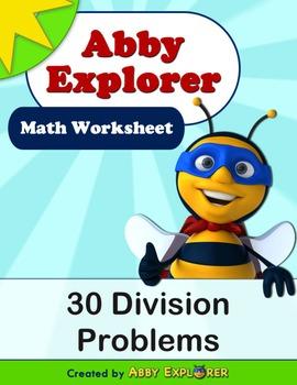 Abby Explorer Math - 30 Division Problems