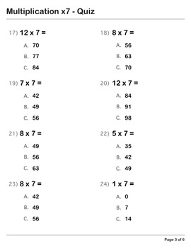 Abby Explorer Math - Multiplication x7