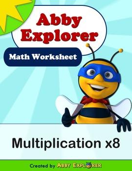 Abby Explorer Math - Multiplication x8