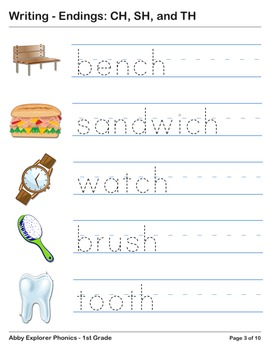 Abby Explorer Phonics - First Grade: Blend with Letter CH, SH and TH Series