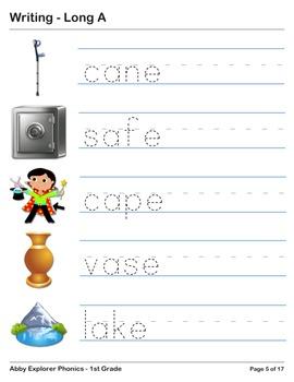 Abby Explorer Phonics - First Grade: Long A Series
