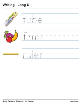 Abby Explorer Phonics - First Grade: Long U Series