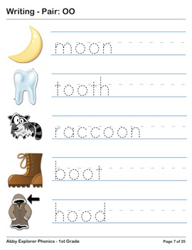 Abby Explorer Phonics - First Grade: Pair OO Series