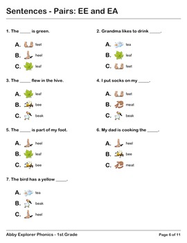 Abby Explorer Phonics - First Grade: Pairs EE and EA Series