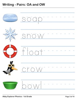 Abby Explorer Phonics - First Grade: Pairs OA and OW Series