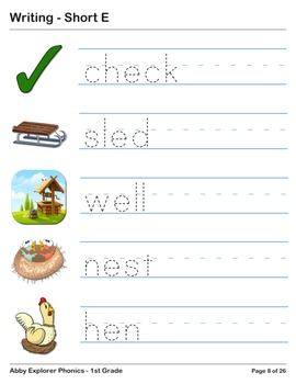 Abby Explorer Phonics - First Grade: Short E Series