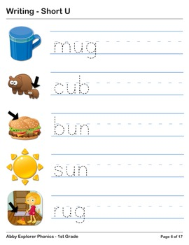 Abby Explorer Phonics - First Grade: Short U Series