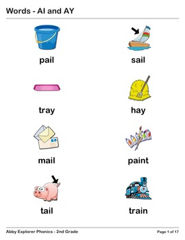 Abby Explorer Phonics - Second Grade: AI and AY Series