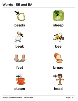 Abby Explorer Phonics - Second Grade: EE and EA Series