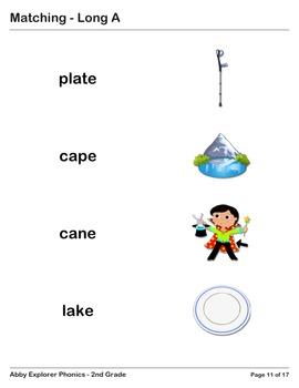 Abby Explorer Phonics - Second Grade: Long A Series