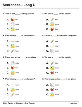 Abby Explorer Phonics - Second Grade: Long U Series