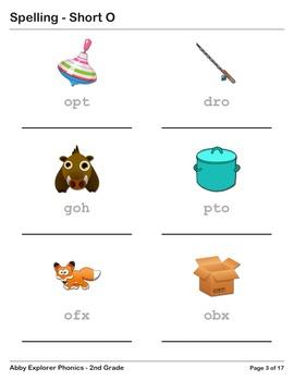 Abby Explorer Phonics - Second Grade: Short O Series