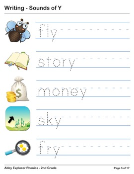 Abby Explorer Phonics - Second Grade: Sound of Y Series