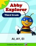 Abby Explorer Phonics - Third Grade: Letter Ai, Ay, and Ei Series