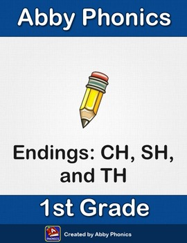 Abby Phonics - First Grade -  Consonant Pair Endings: CH, SH, and TH Series