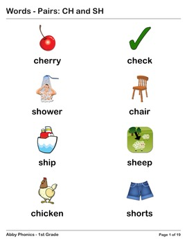 Abby Phonics - First Grade - Consonant Pairs: CH and SH  Series