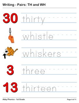 Abby Phonics - First Grade -  Consonant Pairs: TH and WH Series