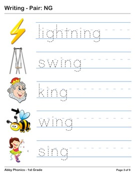 Abby Phonics - First Grade -  Ending Pair: NG Series