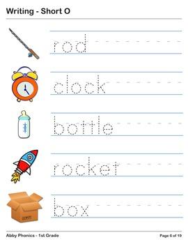 Abby Phonics - First Grade - Short O Series