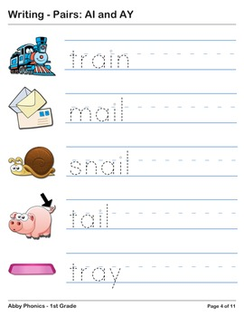 Abby Phonics - First Grade - Vowel Pairs: AI and AY Series