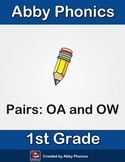 Abby Phonics - First Grade - Vowel Pairs: OA and OW  Series