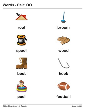 Abby Phonics - First Grade - Vowel Pairs: OO  Series