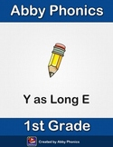 Abby Phonics - First Grade - Y as Long E  Series