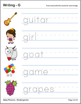Abby Phonics - Kindergarten - The Letter G Series
