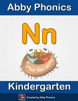 Abby Phonics - Kindergarten - The Letter N Series