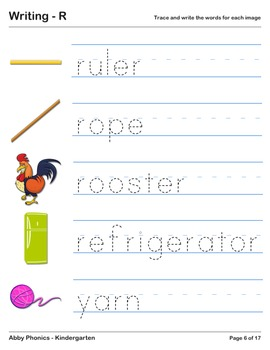 Abby Phonics - Kindergarten - The Letter R Series
