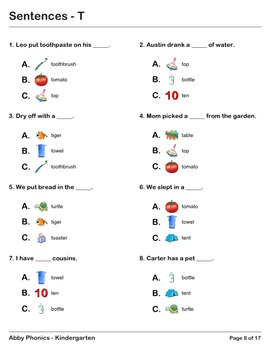 Abby Phonics - Kindergarten - The Letter T Series