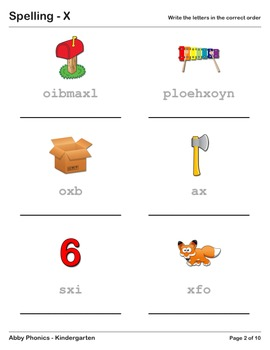 Abby Phonics - Kindergarten - The Letter X Series