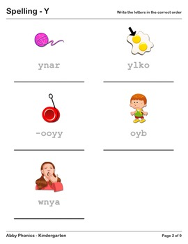 Abby Phonics - Kindergarten - The Letter Y Series