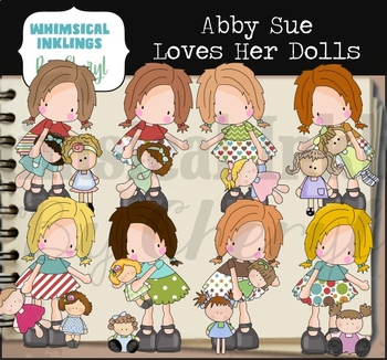 Abby Sue Loves Her Dolls Clipart Collection