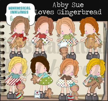 Abby Sue Loves Gingerbread Clipart Collection