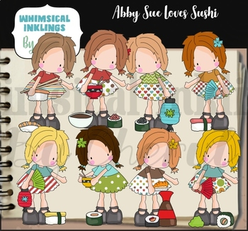 Abby Sue Loves Sushi Clipart Collection