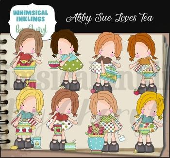 Abby Sue Loves Tea Clipart Collection