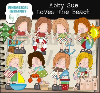 Abby Sue Loves The Beach Clipart Collection