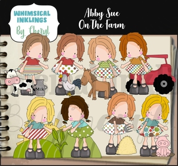 Abby Sue On The Farm Clipart Collection