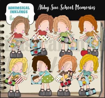 Abby Sue School Memories Clipart Collection