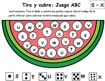 Abc Games: Watermelon themed