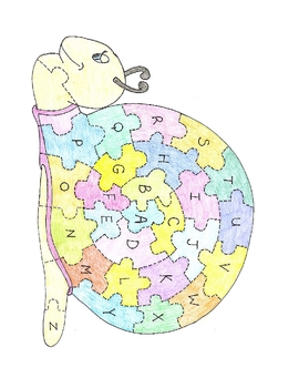 ABC Snail Puzzle and Numbers 1 - 20 Fish Puzzle - Autism