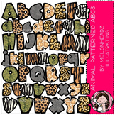 Alphabet clip art - Animal Print- by Melonheadz