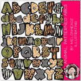 Alphabet clip art - Animal Print- Melonheadz clipart