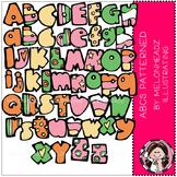 ABCs clip art - Patterned- by Melonheadz