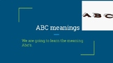 Abc's Meanings
