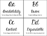 Abc's of Good Character in Cursive