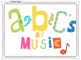 Abc's of Music Display 2