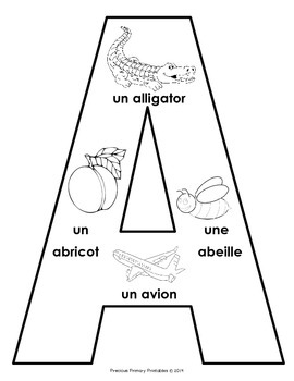 Abécédaire French Alphabet with Images from A-Z